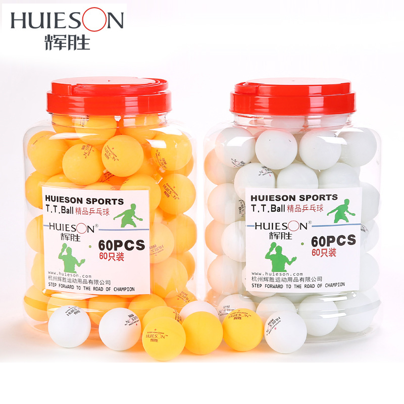 Huieson 60pcs/barrel Professional 3 Star Table Tennis Balls 40mm 2.9g <font><b>Ping</b></font> Pong Ball Yellow White for Table Tennis Game Training