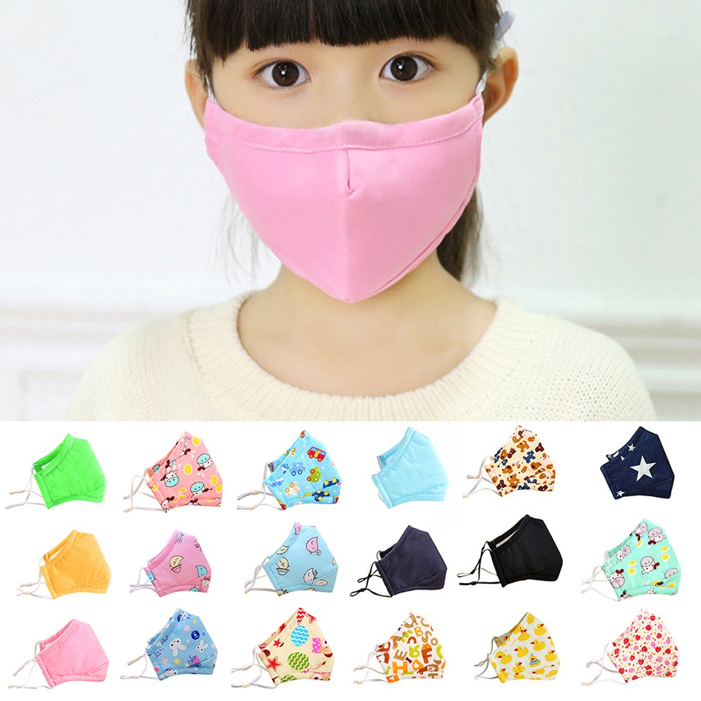 PM2.5 Children Warm Cotton Anti Dust Mouth Mask Carbon Filter Windproof Mouth-muffle Bacteria Proof Flu Kind Face Masks