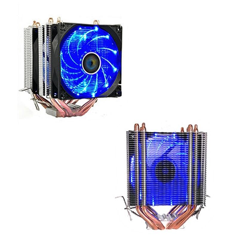 цена на Aluminum LED CPU Cooler Fan Heatsink Radiator For Intel LAG1156/1155/1150/775 For AMD New Computer cooler Cooling Fan For CPU