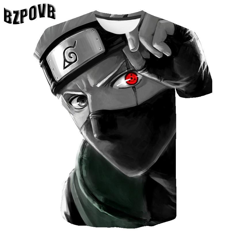 2019 été nouveau mode hommes hauts T-shirt Naruto 3D T-shirt hommes à manches courtes impression Naruto costume cosplay t-shirts