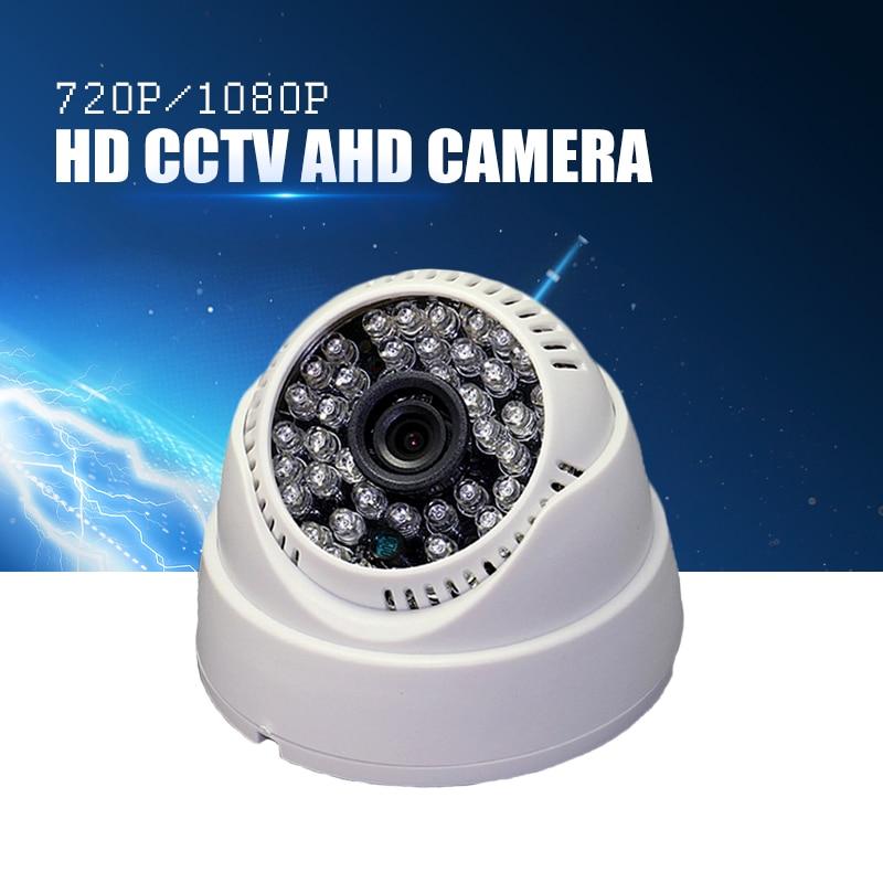 YiiSPO AHD 720P 1080P IR Mini Dome Camera Analog 1MP 2MP AHD Camera indoor IR CUT 48LEDS Night Vision Plug and Play for AHD DVR