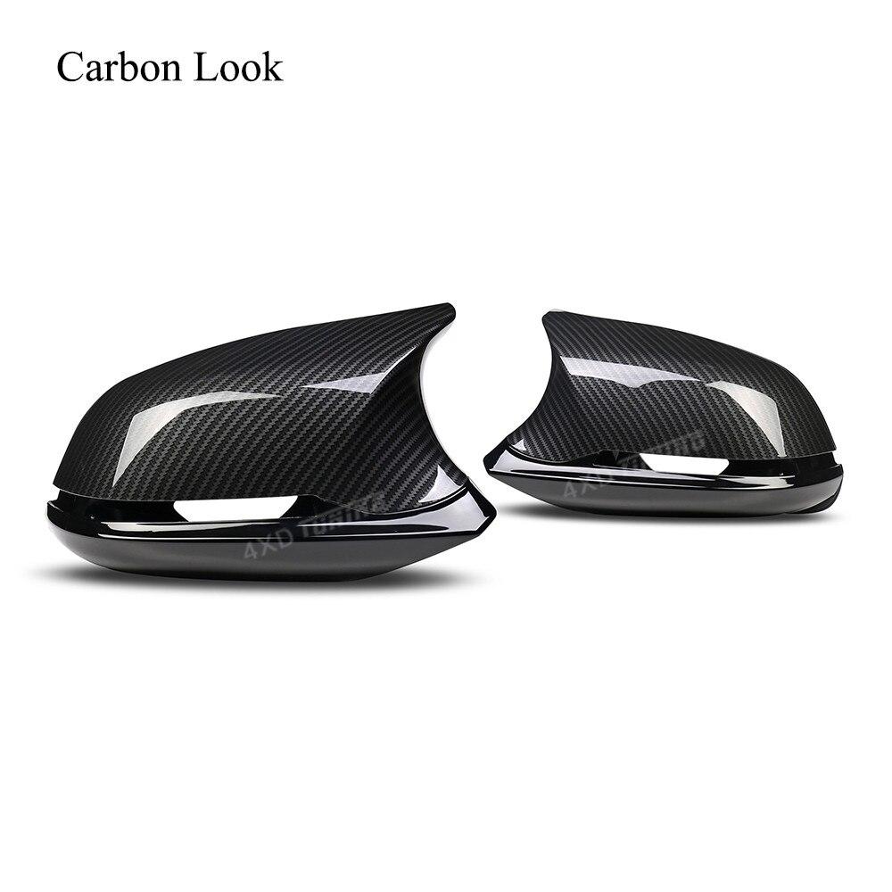 M3 M4 Look Pour BMW 1 2 3 4 série E84 M2 F87 F22 Arrière Vue Look Carbone Couverture De Miroir 6 Pcs brillant noir F36 F20 F30 Miroir Couverture