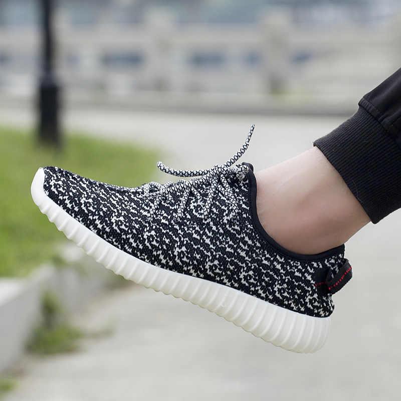 حجم كبير أحذية رياضية رخيصة الدانتيل يصل درب احذية الجري شبكة تنفس أسود أبيض ربيع الخريف أحذية رجالي