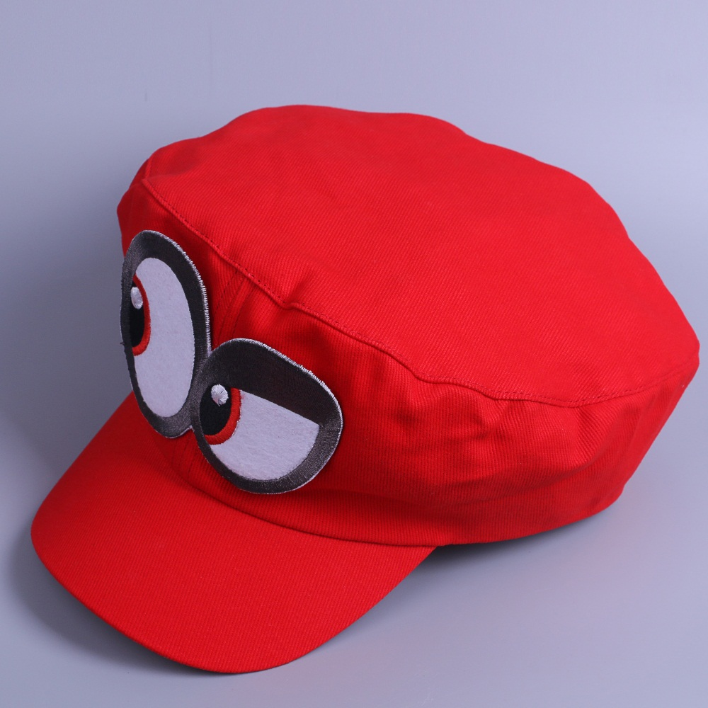 Game Super Mario Odyssey Cap Cosplay Red Mario Hat Adult Kids Halloween Prop New3