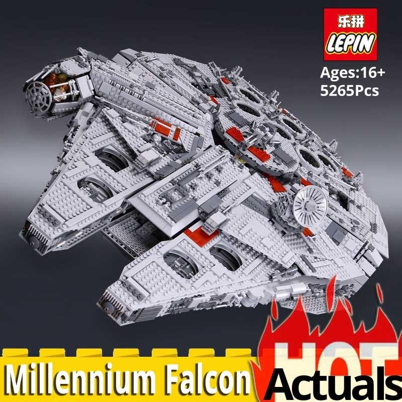 In magazzino DHL LEPIN Star film wars 05033 Set compatibile 2007 legoinglys UCS millennium falcon 10179 blocchi di costruzione giocattoli dei mattoni