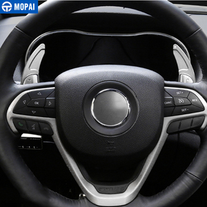 Image 4 - MOPAI ABS Car Interior Steering Wheel Gear Panel Paddle Shift Decoration Trim Cover Stickers For Jeep Grand Cherokee 2014 Up
