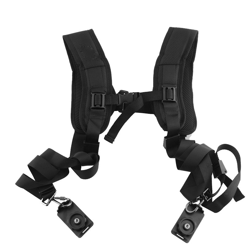 RACAHOO Sports Camera Strap Shoulder Strap With Double Shoulder Strap Fast Loading Plate For Micro SLR For Canon Sony Cameras