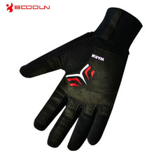 BOODUN Windproof Fleece font b Gloves b font For Men Women Winter Bicycle Thermal Guantes Ciclismo
