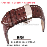 Crocodile Watchbands Luxury Brand Watches Accessories Straps 12mm 14mm 16mm 18mm 19mm 20mm 21mm 22mm Butterfly