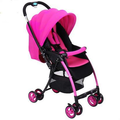 Carro de bebé puede ser un portátil de niñera puede ser acostado en el verano transpirable multifuncional bebé de coche de bebé transpirable carro