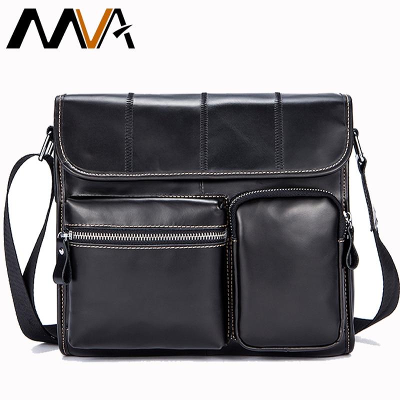 MVA Famous Brand Genuine Leather Men Bags Casual Business Travel Mens Messenger Bag Vintage Men s