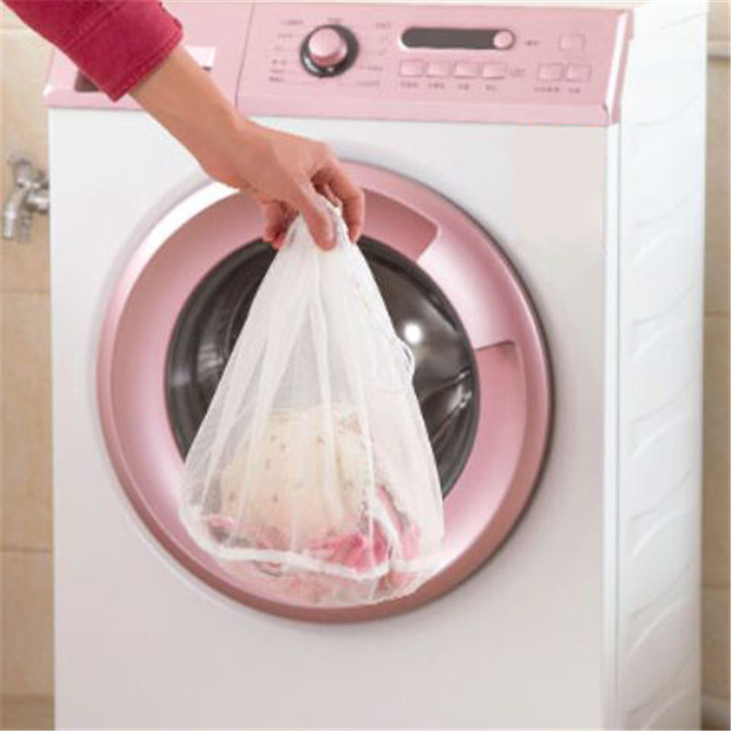 Nylon Drawstring Bra Underwear Products Laundry Bags Household Cleaning Tools Washing Machine Protection Net Mesh Bags 2018