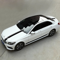 For 2015 2019 Mercedes benz class C w205 amg c63 personality sticker accessories Pull flower