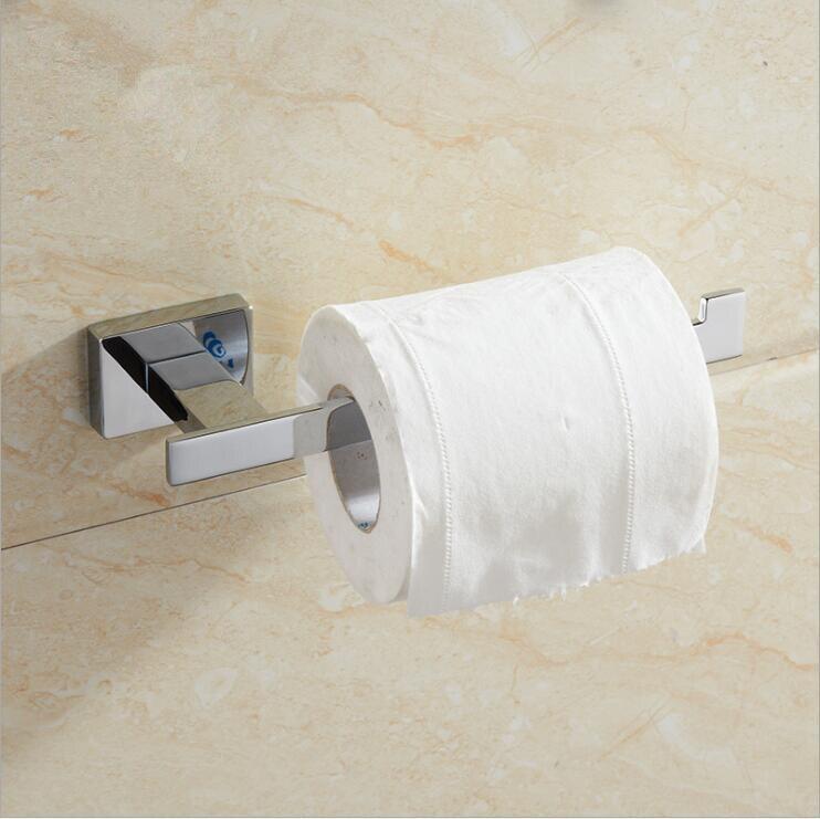 Haben Sie Einen Fragenden Verstand Gold/chrome Papier Halter Wand Bad-accessoires Toilettenpapierhalter Schwarz Bad Wc Halter Papierrollenhalter üBerlegene Leistung Heimwerker