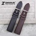 Assistir Cinta de 20mm 22mm Marrom Preto Novo Dos Homens de alta qualidade Relógio de couro genuíno banda pulseiras Para MARCA AR2448 AR2434