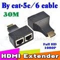 1 Компл. HDMI Двойной RJ45 CAT5E CAT6 UTP LAN Ethernet HDMI Extender Ретранслятор Адаптер 1080 P Для HDTV HDPC PS3 СТБ Оптовая ГОРЯЧИЕ