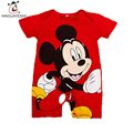 2016 Summer Style Baby Rompers Baby Girls Clothes Cotton Cute Mickey Minnie Romper Newborn Jumpsuits Ropa Bebes Baby Boy Clothes
