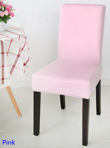 Pleasant Us 6 0 Pink Colour Spandex Lycra Chair Cover Fit For Square Back Home Chairs Wedding Party Home Dinner Decoration Half Cover In Chair Cover From Beatyapartments Chair Design Images Beatyapartmentscom