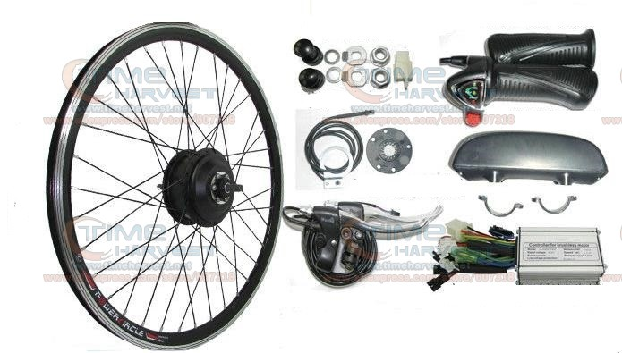 26 Bicycle wheel 350W 24V electric mountain bike motor electric bicycle kit With 24V Controller DC Electric Bike conversion set pasion e bike 28 road bike utility bicycle electric conversion kit 48v 1500w rear wheel motor 7 speed freewheel sensor brake