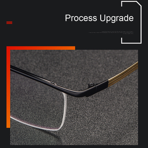 Image 5 - Handoer ためベータチタン光学ガラスフレーム男性眼鏡眼鏡眼鏡光学処方眼鏡 Browline スタイル
