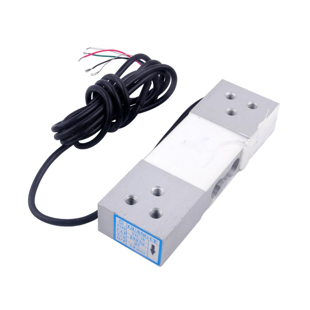 Load Cell 100KG Wide Measurement Platform Scale Pressure Sensor Electronic Weight Weighing Sensor YZC-1B FZ2042-100