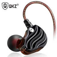 Fones de ouvido qkz kd4 fone de ouvido mini motorista duplo original híbrido duplo dinâmico driver fone de ouvido mp3 dj auriculares