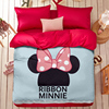 New Mickey Mouse 4pcs Bedding Sets Queen Bed Sheet Set Bed Linen Bedclothes Duvet Cover Minnie