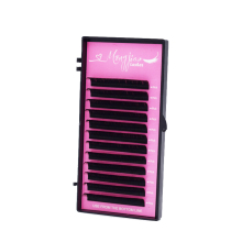 M&J silk eyelash extension natural long individual faux mink eyelashes wholesale lashes B/C/D curl can do private label
