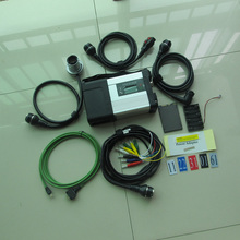 Top new 2017.09v mb star c5 ssd with sale price mb sd c5 multiplexer with 5 cables full set work for MB vehicles dhl free