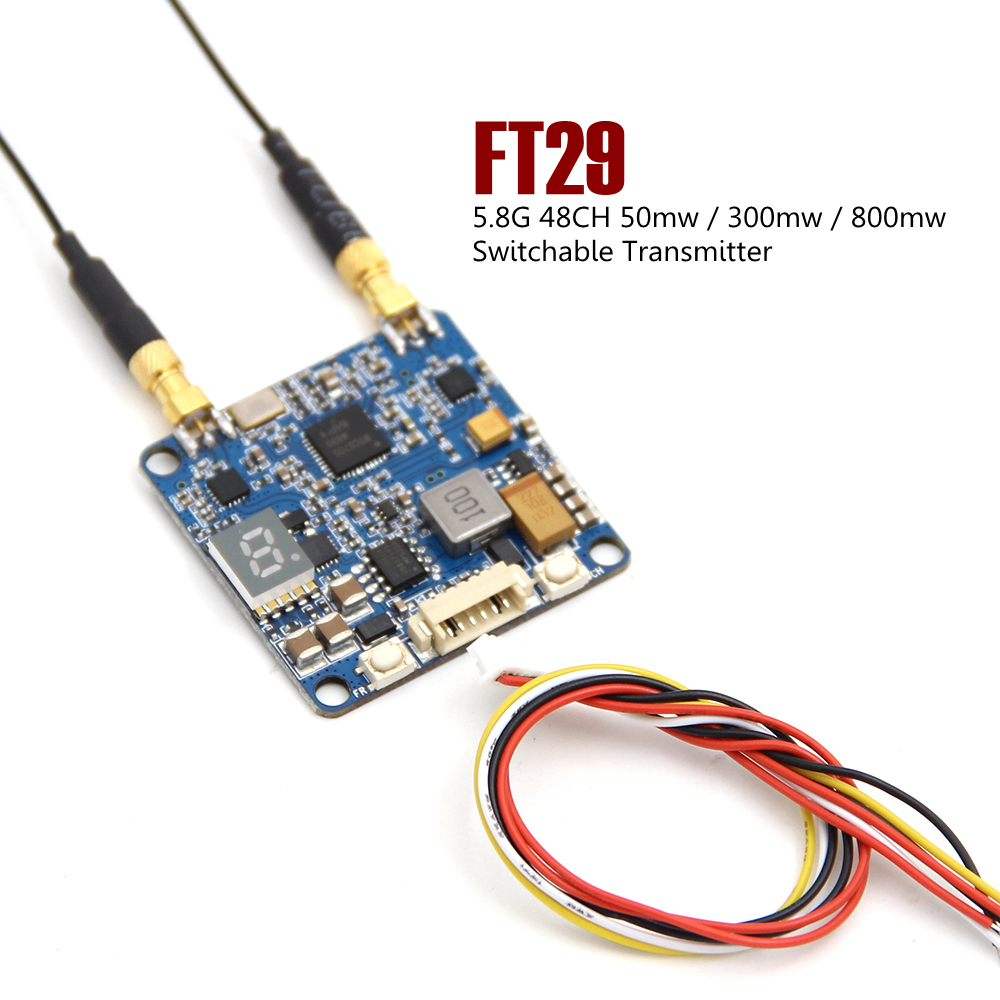 LEACO SJ-FT29 5.8G 48CH 50mw / 300mw / 800mw Switchable Transmitter TX For FPV RC Racing Drone Quadcopter