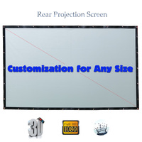 Rear Projector Screen Folding Projection Screens Fabric PVC Pantalla Proyector For LED LCD HD Movie Customized