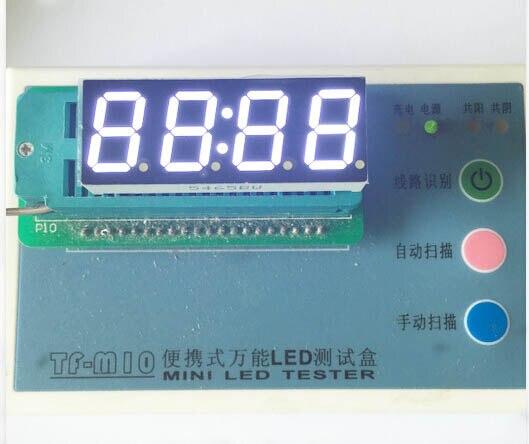 Бесплатная Доставка 100 шт. общий анод 0.56 дюймов цифровые часы трубки 4 биты цифровой пробки светодиодный дисплей 0.56 дюймов белый цифровой тр...