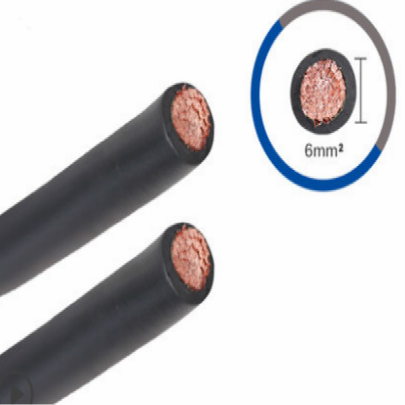 Cross Section 6 Square Millimeter Welding Clamp Cable Earth Welding Cable Grounding Cable 2M/LOT FREE SHIPPING