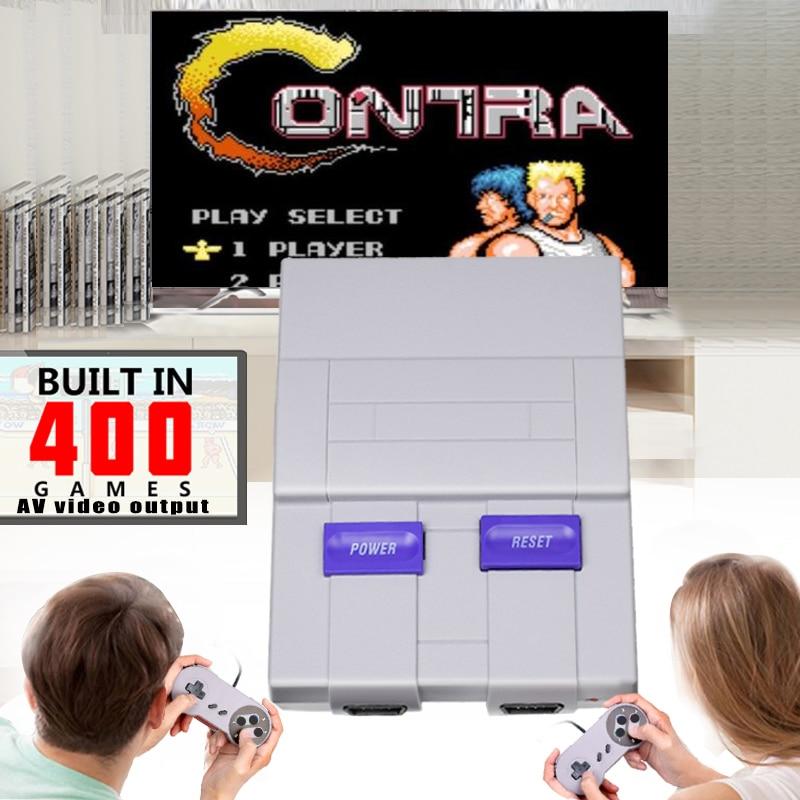 Mini HD HDMI TV Console de jeu vidéo portable rétro famille Console de jeu intégré 821 classique pour les jeux SNES double manette PAL & NTSC