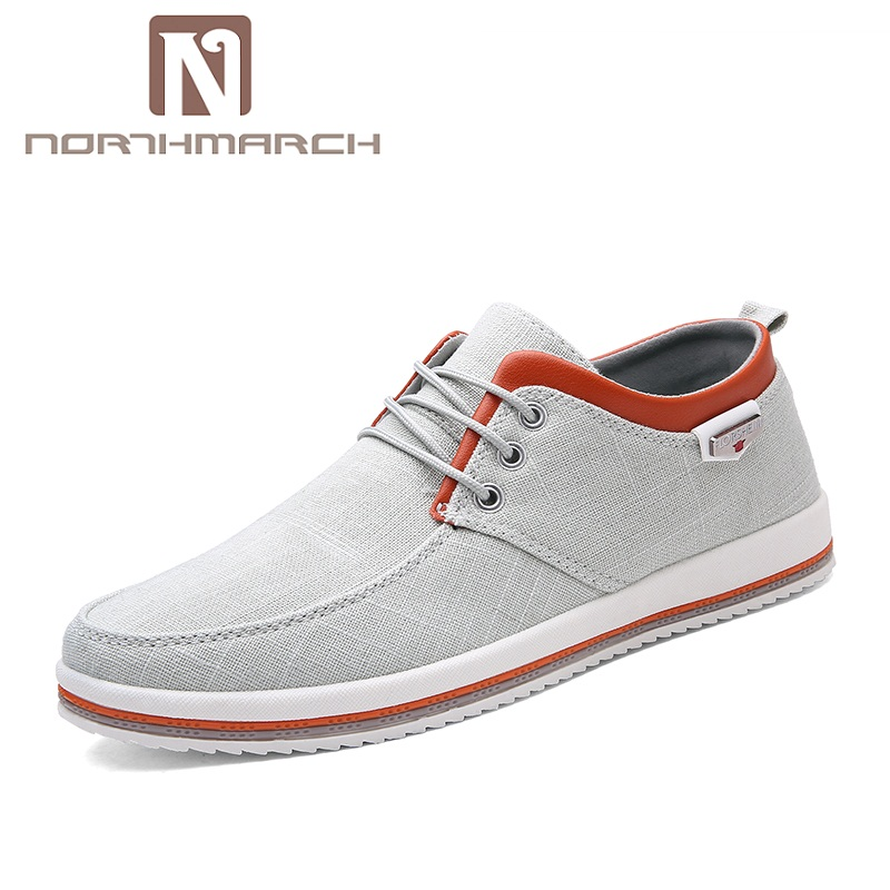NORTHMARCH 2018 New Canvas Shoes Men High Quality Casual Men Shoes Breathable Lace-Up Espadrilles Men Footwear Zapatos Hombre spring ultra light mens shoes men casual leather mans footwear zapatos hombre presto lace up breathable air chaussure homme 95
