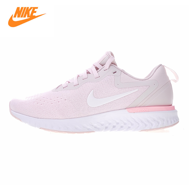 NIKE ODYSSEY REACT Women's Running Shoes, White & Pink, Shock-absorbing Lightweight Breathable Wear-resistant AO9820 600 nike air odyssey white black