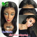 Full Lace Human Hair Wigs for Black Women Glueless Full Lace Wigs Brazilian Virgin Hair Silk Straight Lace Front Human Hair Wigs