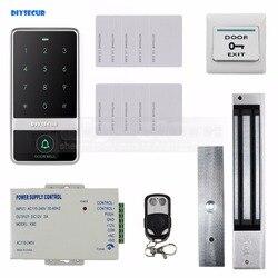 DIYSECUR 8000 użytkowników zamek magnetyczny 125 KHz czytnik RFID hasło klawiatura drzwi kontroli dostępu bezpieczeństwa systemu Kit w Zestawy do kontroli dostępu od Bezpieczeństwo i ochrona na