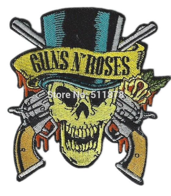 35 Gunsnses Iron On Patch Music Band Embroidered Sew On