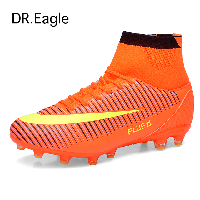 4bb9688b0fe Men FOOTBALL WITH ANKLE BOOT superfly original Outdoor ankle high 2016 sock boots  soccer football shoes plus size 39-46. Price