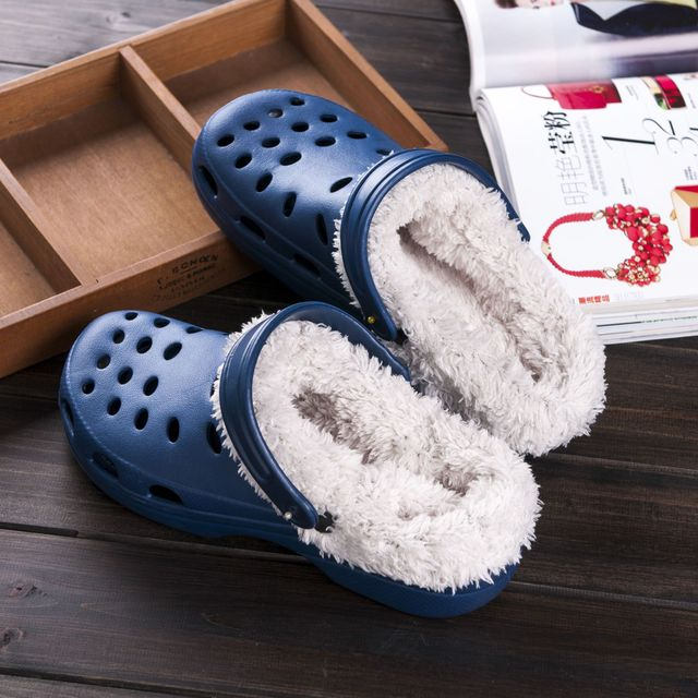 c9f9ff8493f1a4 Original Slippers Women Croc Clog Shoes Winter Outdoor Classic Freesail  Plush Shearling Lined Sneakers Winter Fur Garden Sandals