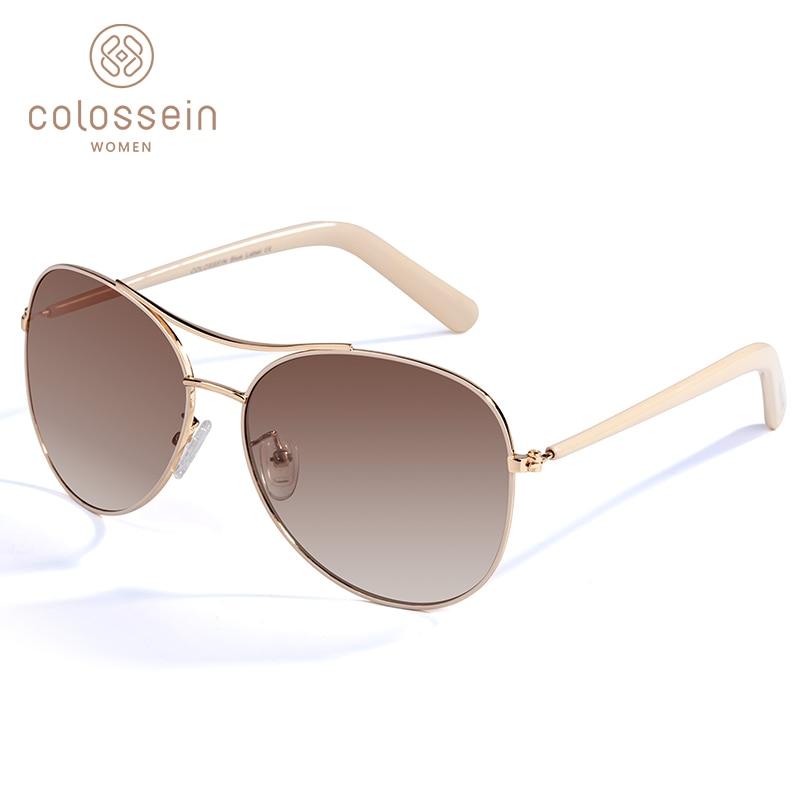 COLOSSEIN Sonnenbrille Frauen Mode Gold Rahmen Klassische Weibliche Sonnenbrille 2019 Für Männer Im Freien Brillen gafas de sol mujer UV400