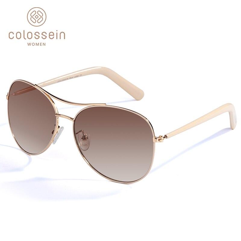 COLOSSEIN gafas de sol de las mujeres de moda de oro marco clásico mujeres gafas de sol 2019 al aire libre para los hombres gafas de sol de mujer UV400