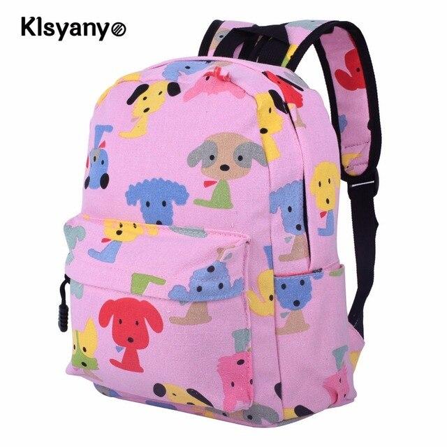 5bbef884aaaa Klsyanyo Age 3-6 Kids Kindergarten Cute Canvas School kids Backpacks School  Mini Pattern Rucksack Bookbag