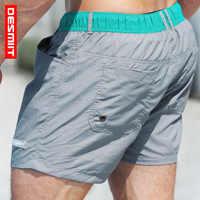 New Swim Shorts Men Swimwear Trunk Mens Swimming Shorts Mesh Liner Beach Boardshorts Surf Short Mens Board Sport Bathing Suit