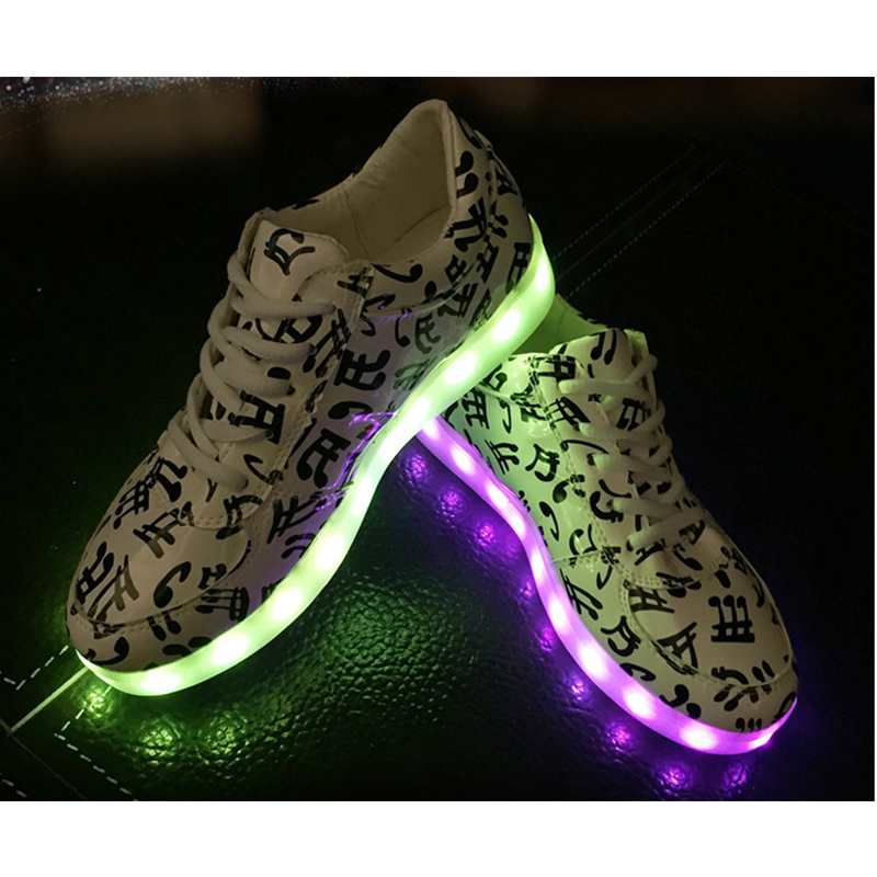 8 color basket led shoes 2015 led shoes for adults fashion glowing led light shoes chaussure - Basket Femme Color