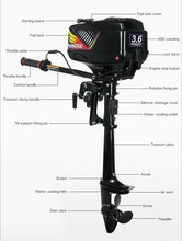 New HANGKAI 3.6HP 2 stroke fishing boat engines outboards boat motors outboard motors marine for sale