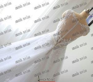 Image 2 - 아만다 novias 2017 실제 사진 웨딩 드레스 신부 드레스