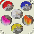 New 66cm two-sides belly dance Silk Fan Veils Nice 1pair 100% Silk folding Hand-Fans Stage Performance Practise Props Fans