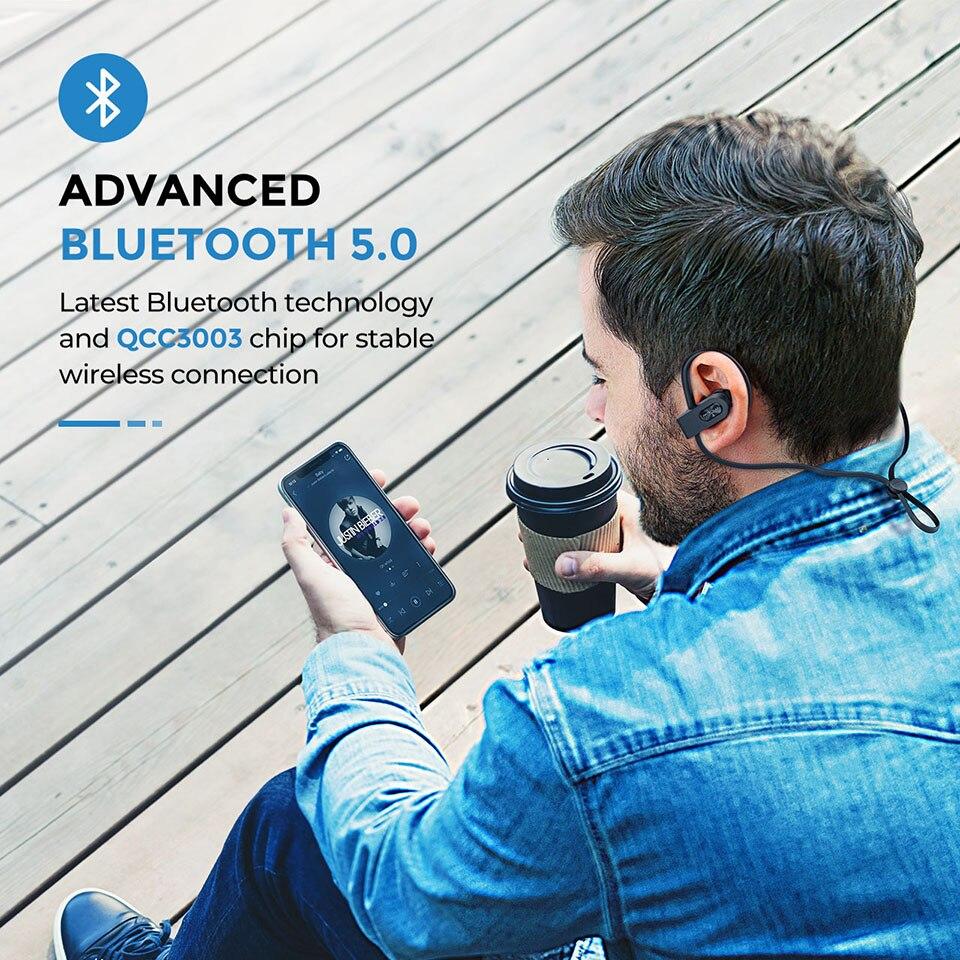 Mpow Flame 2 Bluetooth 5.0 Earphone IPX7 Waterproof Wireless Headphone With 13 Hours Playtime Noise Canceling Mic Sport Earphone (2)